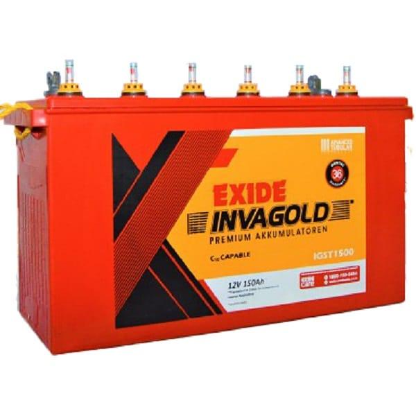 Best Inverter Battery For Home Use, Exide IGST 1500 150Ah Battery