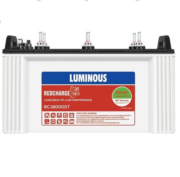 Luminous Zelio+ 1100 Pure Sine wave Inverter And RC 18000ST 150Ah Tubular Inverter Battery