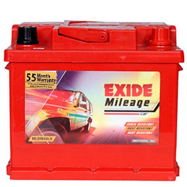 Exide Mileage ML Din 44LH Car Battery(44Ah)