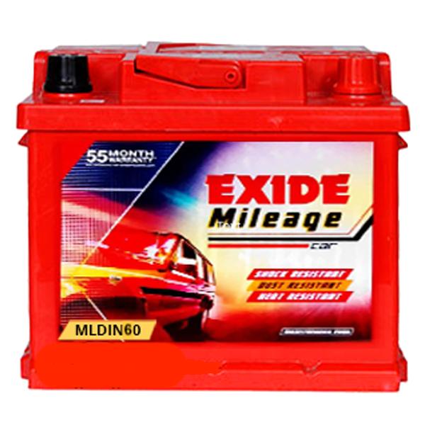Exide Mileage ML Din 60 Battery