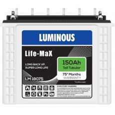 Luminous LifeMax LM18075 150Ah Tall Tubular Battery
