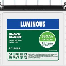 Luminous ShaktiCharge SC18054 150Ah Tall Tubular Battery