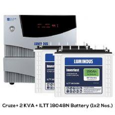 Luminous Cruze+ 2kVA Inverter And ILTT 18048N Tubular Battery(150Ah)