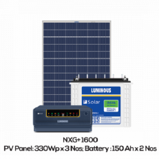 Luminous Solar Off Grid Combo - 1500 VA Inverter 150Ah Battery