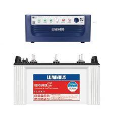 Luminous Eco Watt 700 Inverter UPS With Luminous Rc 16000 135Ah Tubular Battery