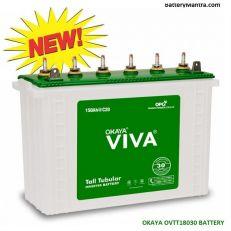 Okaya VIVA OVTT18030 150Ah Tubular Inverter Battery