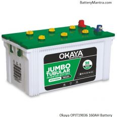 Okaya OPJT19036 160Ah Jumbo Tubular Inverter Battery