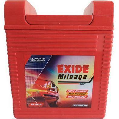 Exide Mileage ML38B20R Car Battery (35Ah)